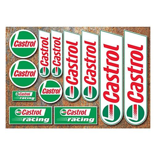 Castrol Aufkleber Set 12Motorrad Auto Motorsport Race Aufkleber Rally Moto GP TT von ONEKOOL