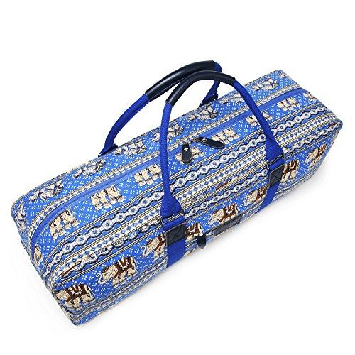 Boence Yoga Bag Printed Canvas Large Yoga Mat Tote Bag