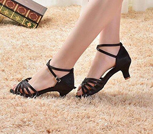 KUKI Scarpe da ballo latino per adulti scarpe da ballo morbide e morbide 1