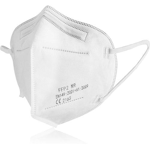U-Kiss - Mascherine FFP2 NR - 50 Mascherine - JY-KN95 - Certificata EN 149:2001 + A1:2009 - CE 2163 - Confezionate in 5 comode buste da 10 mascherine