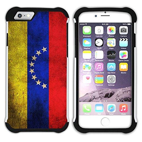 Graphic4You Vintage Uralt Flagge Von Dominikanische Republik Design Hart + Weiche Kratzfeste Hülle Case Schale Tasche Schutzhülle für Apple iPhone 6 Plus / 6S Plus Venezuela Venezolanisch