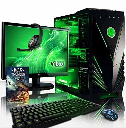 VIBOX Warrior Komplett-PC Paket 4X Gaming PC - 4,1GHz AMD FX 6-Core CPU, RX 460 GPU, leistungsfähig, Desktop Gamer Computer mit Spielgutschein, 22