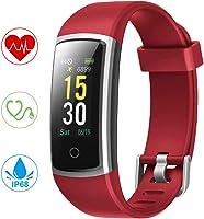 YONMIG Orologio Fitness Tracker, Smartwatch Pressione Sanguigna Cardiofrequenzimetro Bluetooth Activity Tracker IP68...