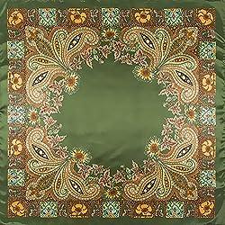 tfxwerws encantador clásica artística suave satén seda cuadrado pañuelo de bufanda (verde)