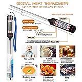 BBQ Grill Werkzeugset Grillbesteck Set Grillzubehör Grillhandschuhe Hitzebeständig bis 500°C,Grillthermometer Fleischthermometer Digitale,Grillmatten,Fleisch Krallen,Silikonwürzbürste - 4