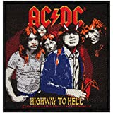 AC/DC ACDC Highway To Hell Album Art Hard Rock Music Woven Sew On Applique Patch by Cool-Patches