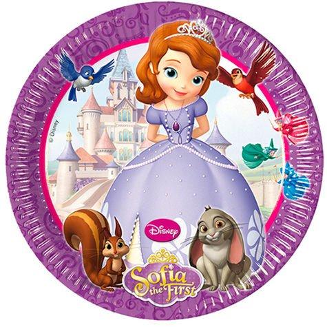 20cm Disney Sofia die Erste Party Teller, 8Stück