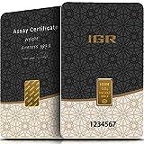 IGR Gold 0,5g Gramm Goldbarren 999.9 Geschenk Anlage Zertifiziert