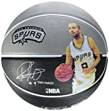 Spalding NBA Player Tony Parker Ball 83 – 401z, Gris/Negro, 5, 3001586010715