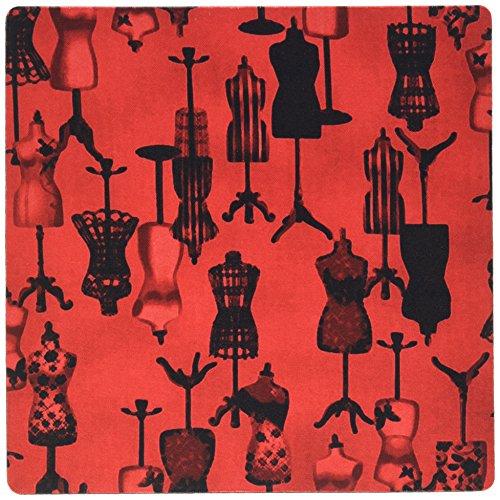 0,3x 0,6cm Mauspad, lackiert, rot N schwarz Kleid Formen (MP 109500_ 1) ()