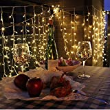 Cadrim Lichterkettenvorhang 306 LEDs, 8 Modi 3m IP44 wasserfest Sternen LED Lichterketten für Weihnachten, Deko, Party, Weihnachtsbeleuchtung, Hochzeit [Energieklasse A+]
