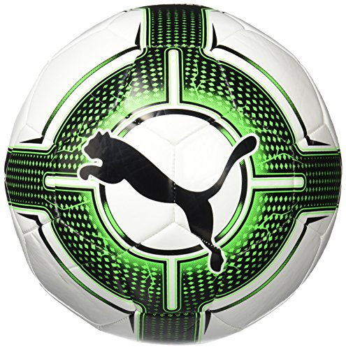 PUMA Evopower 6.3 Trainer MS Fußball, Puma White-Green Gecko-Puma Black, 5