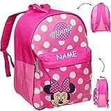 alles-meine GmbH großer _ Kinder Rucksack -  Disney - Minnie Mouse  - inkl. Name - Tasche - beschichtet & wasserfest - Kinderrucksack / groß Kind - Jungen - z.B. für Vorschu..