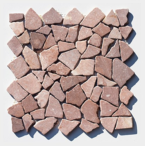M-1-023 - 1 m² = 11 Fliesen - Bruchstein Marmormosaik Mosaikfliesen