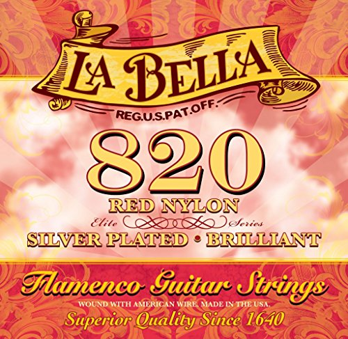 La Bella 7D76 - Juego de cuerdas para flamenco, color rojo