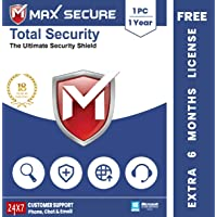 Max Secure Total Security Platinum for Windows - 1 PC, 1 Year + Extra 6 Months Subscription Free (Email Delivery in 2…