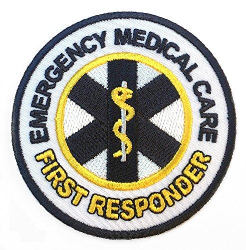 Emergency Medical Care First Responder Patch Embroidered Iron on Badge 8cm DIY Applikation Kostüm Arzt Krankenschwester Paramedic Cosplay