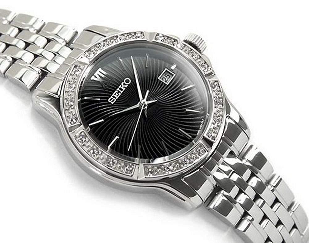 Seiko – Reloj de cuarzo para mujer con correa de acero inoxidable