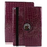iPad Mini Hülle, elecfan ® 360 Grad Rotierende PU Leder Hülle Ultra Dünnen Leichtgewicht Tasche Wasserdicht Case Smart Cover mit Ständer Multi Winkel Betrachtung Anti Kratzer Schutzhülle für iPad mini 1 2 3 (iPad mini 1 2 3, Lila) -