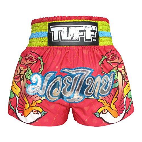 Tuff Boxen Muay Thai Shorts Frauen Mädchen, Unisex, Pink Rose, X-Large - Boxing Frauen Shorts