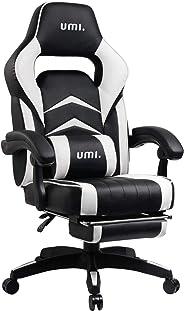 UMI. Essentials Silla Gaming Escritorio Oficina Garantía de 2 años con Reposapiés Respaldo Reclinable Silla Ergonómica Silla