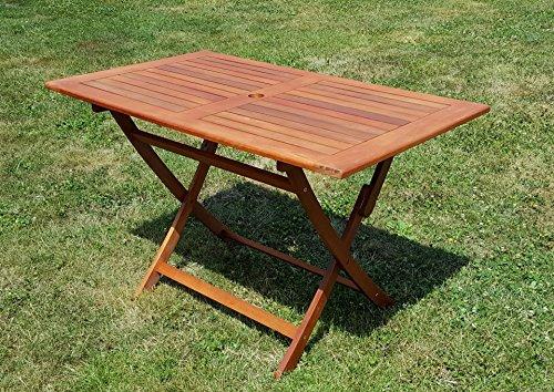 Klappbarer Gartentisch Holztisch Tisch Klapptisch 120x70cm Aus Eukalyptus  Hartholz Wie Teak Von AS S