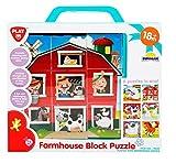 Playgo Bauernhof Würfelpuzzle 6 Puzzle in Einem ab 18 Monate