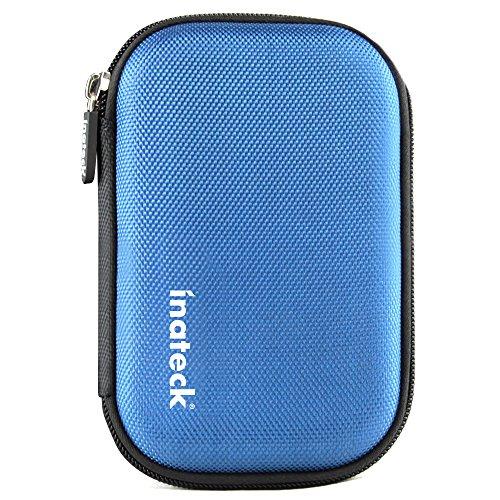 Inateck Housse disque dur externe de 2.5 pouces étui disque dur externe boitier protection disque dur 2.5 (bleue)