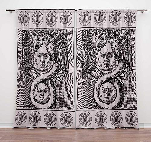 Timingila Weiß Türvorhang Unendlich Drachen und Sonne Herbst-Trends Wohnzimmer Öse Tür Vorhang Bett Raumteiler Vorhang Panel 2 Stck - 54 x 108 Zoll -