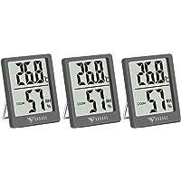 DOQAUS Digital Thermometer Innen, 3 Stück Thermo-Hygrometer Innen Hygrometer Feuchtigkeit Raumthermometer mit Hohen…