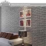 Indexp, 3d-Tapete, PE-Schaumstoff-Einsätzen, Wohnzimmer-Aufkleber, Dekoration, cmx38.5cm, PVC, grau, 60cm * 90cm