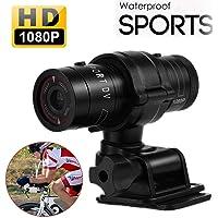 Hangang Mini Sports Caméra Full HD 1080p Action étanche Sport Casque vélo pour caméra vidéo DVR Vidéo AVI Support…