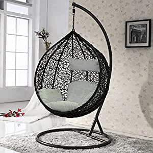 int rieur ext rieur rotin tissage balan oire de jardin chaise suspendu oeuf chaise mobilier. Black Bedroom Furniture Sets. Home Design Ideas