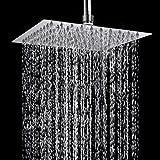 TAPCET ducha/placa de ducha,alcachofa de la ducha Alcachofas fijas para ducha 304 acero inoxidable ,8 pulgada Ultra-delgado inyector de ducha per cuarto de baño plaza,Cinco años de garantía