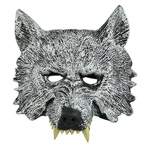 lf Gummimasken für Halloween / Cosplay / Maskenball Kostüme Requisiten (Macht Das Werwolf-kostüm)