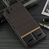 Tarkan Luxury Lenovo Vibe K5 / K5 Plus Flip Cover: Leather Textured Back Stand Case with Card Slot