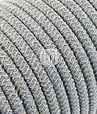 Textilkabel für Lampe 3 Meter 3 adrig jute blau 3x0,75mm2 Kabel | Textilummanteltes Lampenkabel Stoffkabel | für Elektroartikel und DIY Lampenzubehör Leuchtenkabel Stromkabel textil Meterware