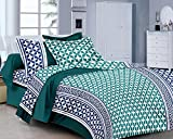 Classic FP Green Blue Printed Cotton Dou...
