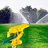 Mystique 360 Grad Garten-Sprenger Impuls Unimag, Erdspieß, Wurfweite einstellbar, 1 Stück, grün/gelb