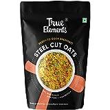 True Elements Steel Cut Oats 500gm - Gluten Free Oats, Diet Food, Plain Oats