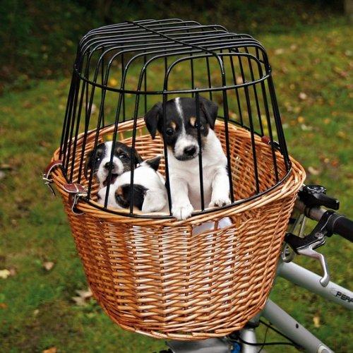 Trixie 2806 Front-Fahrradkorb, 44 × 48 × 33 cm, natur