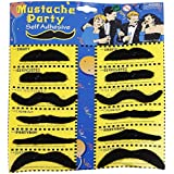 Party Propz Stickon Moustache, Black (Set of 12)