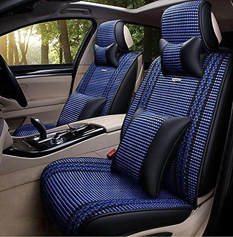 Homee @ quatre saisons oreillers intérieures de voiture quatre saisons général Automotive intérieur couverture de coussin du siège de l'automobile de soie de glace 3d, bleu