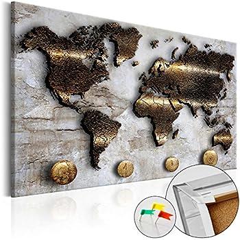 Amazon.de: Earth Metallbild 3D Weltkarte - 120x80cm - Erde
