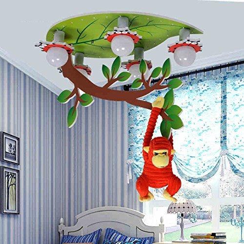 Kreative Retro Aircraft Lampe von der Decke Kinder Roomboy Schlafzimmer LED Persönlichkeit Decke (mit Fernbedienung, LED-Lichtquelle) (Farbe: warmes Licht)