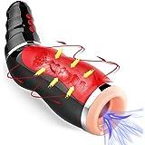 Automatischer Masturbator Cup,Nabini Sexspielzeug für Mann Elektrischer Masturbieren mit 10 Vibrationsmodi Mund Oral Sex Men Cup,Realistische Simulation mit Sexy Stimme Mund Vagina Erotik Masturbator