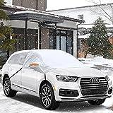 Minleer Protezione parabrezza antighiaccio Auto Copertura Parasole Invernale Anti-Gelo Parabrezza neve Anti-ghiaccio Protegge dal Sole, Ghiaccio, Gelo e Neve 2.4m×2.1m×1.5m ( Fit SUV)