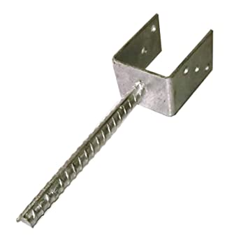 Relativ U-Pfostenträger 121 mm für Pfosten 12x12 cm mit Steindolle  QG56