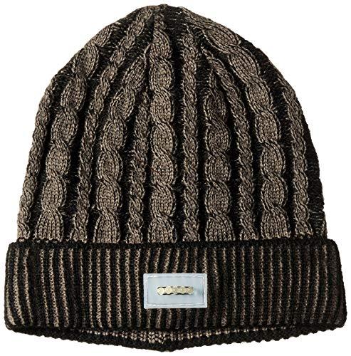 MUK LUKS Damen Unisex LED Beanie Hut für kaltes Wetter, schwarz, Einheitsgröße (Damen Kaltem Wetter Hut)