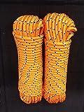 Nr.31 Orange Festmacherleine 10 mm x 30 m, Schnur, Reepschnur,Leine,Seile,Bänder,Seil,Band,Tauwerk,Tau,Schot, Kordel,Spannseil,Rope,Expanderseil,Planenseil,Kunststoffseil